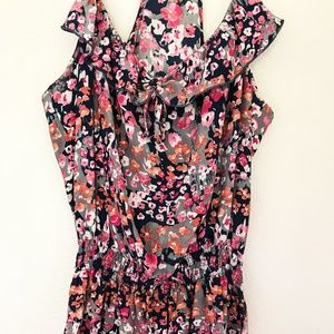 Parker Shopbop Floral Print Ruffle Summer Dress